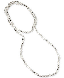 "Robert Lee Morris Soho Silver-Tone 70"" Statement Necklace"