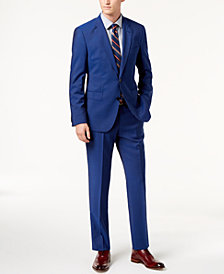 HUGO Men's Modern-Fit Bright Blue Solid Suit Separates