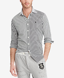 Polo Ralph Lauren Men's Big & Tall Classic Fit Striped Cotton Shirt