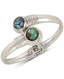 Robert Lee Morris Soho Silver-Tone Stone Bypass Bracelet