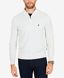 Nautica Men's Big & Tall Colorblocked Quarter-Zip Pullover
