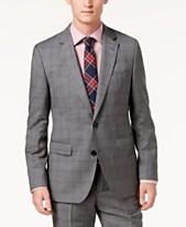 25579603cac Hugo Boss Men s Modern-Fit Medium Gray Glen Plaid Suit Jacket