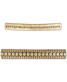 Lucky Brand 2-Pc. Set Pavé Hair Barrettes, Created for Macy's