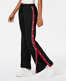 Freshman Juniors' Side-Snap Track Pants