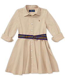 Polo Ralph Lauren Little Girls Chino Cotton Shirtdress