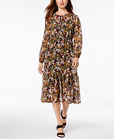 Maison Jules Floral-Print Midi Dress, Created for Macy's