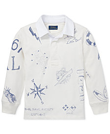 Polo Ralph Lauren Toddler Boys Graphic Cotton Rugby Shirt