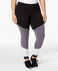 Soffe Curves Plus Size Spirit Colorblocked Leggings