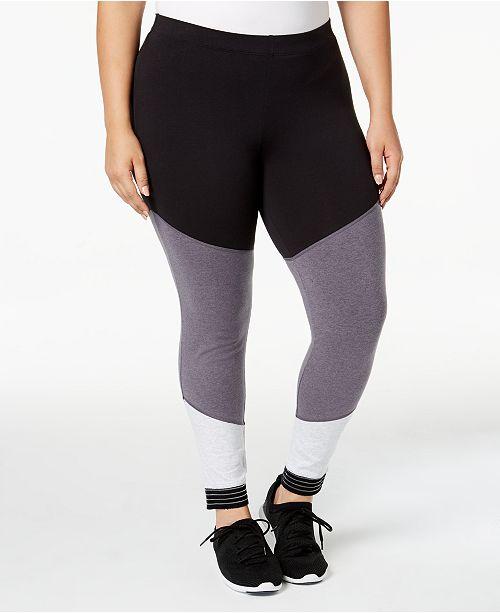 83bfa34b71 Soffe Curves Plus Size Spirit Colorblocked Leggings - Pants - Plus ...