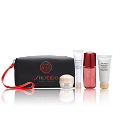 Receive a free 5-pc gift with $100 Shiseido purchase! A $57 Value!