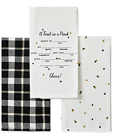 kate spade new york 3-Pc. Toast In A Pinch Kitchen Towel Set