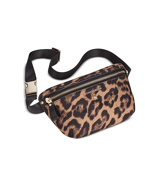 4cfc58f550f462 Michael Kors Nylon Fanny Pack, Created for Macy's & Reviews ...