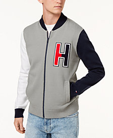 Tommy Hilfiger Men's Terrenz Colorblocked Logo Appliqué Baseball Sweater, Created for Macy's