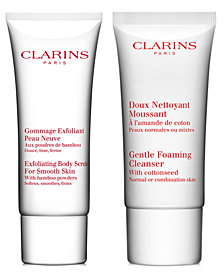 Get More! Free 2 pc skincare gift with your $95 Clarins purchase