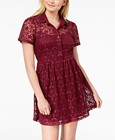 Be Bop Juniors' Lace Shirtdress
