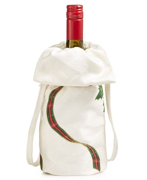 Lenox Closeout Holiday Nouveau Wine Bottle Holder Table Linens