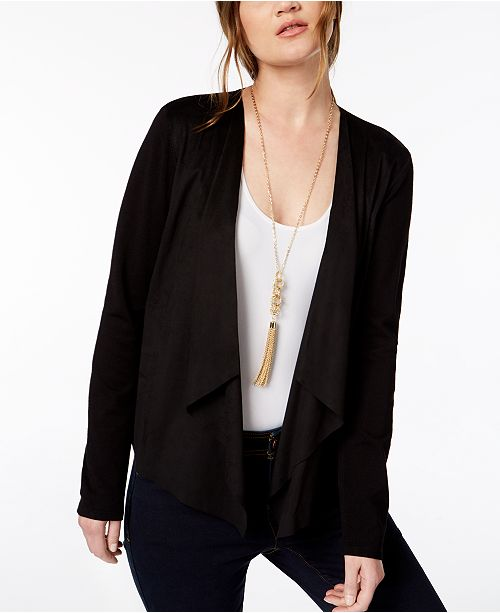 INC International Concepts INC Petite Moleskin Cardigan, Created for Macy's