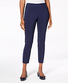 Charter Club Tummy-Control Pull-On Ponte Pants, Created for Macy's
