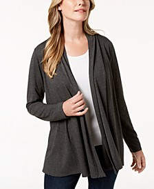 Petite Open-Front Knit Cardigan, Created for Macy's
