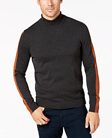 Alfani Men's Striped-Sleeve Turtleneck Sweater, Created for Macy's