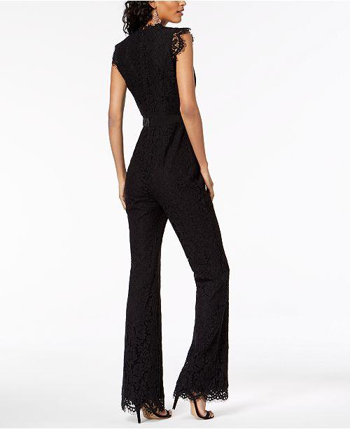 8b316386e5b Rachel Zoe Irys Lace Flare-Leg Jumpsuit   Reviews - Pants   Capris ...