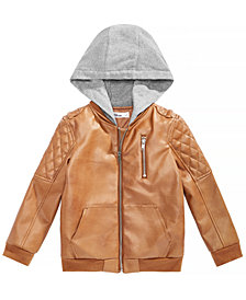 Epic Threads Little Boys Layered-Look Hooded Bomber Jacket, Created for Macy's