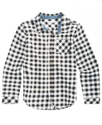 Big Boys Plaid Cotton Shirt, Created for Macy's