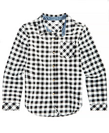 Epic Threads Big Boys Plaid Cotton Shirt, Created for Macy's