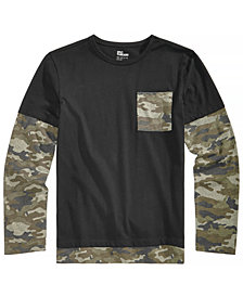 Epic Threads Big Boys Layered-Look Camo-Print Pocket T-Shirt, Created for Macy's
