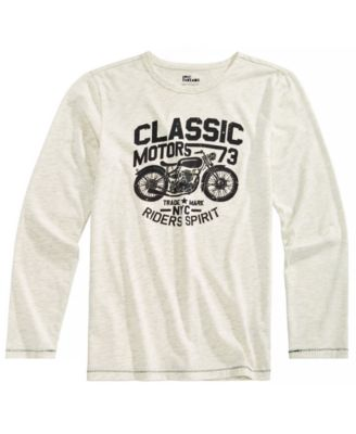 Big Boys Motorcycle-Print T-Shirt, Created for Macy's