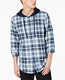 American Rag Men's Liam Plaid Hooded Shirt, Created for Macy's