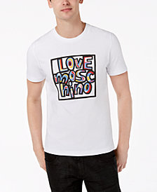 Love Moschino Men's Graffiti-Style T-Shirt