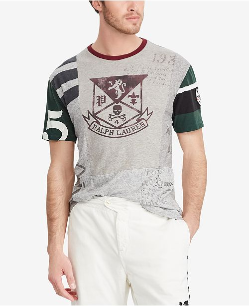 72fcb004bf Polo Ralph Lauren Men s Classic Fit Patchwork Cotton T-Shirt ...