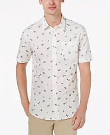 American Rag Men's Cryptic Ditzy Printed Shirt, Created for Macy's