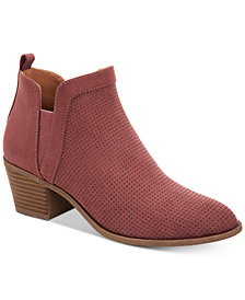 Style & Co Women's Myrrah Perforated Ankle Booties, Created for Macy's