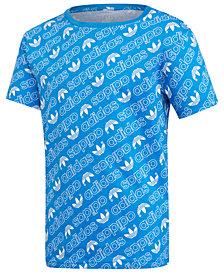 adidas Big Boys Logo Graphic Cotton T-Shirt