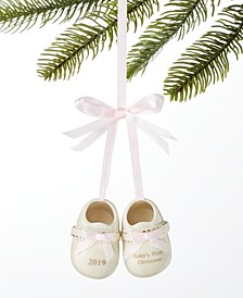 Baby's First Porcelain Pink Baby Shoes Ornament Created For Macy's