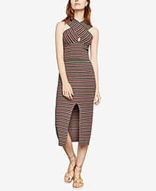 BCBGMAXAZRIA Striped Crisscross Crop Top
