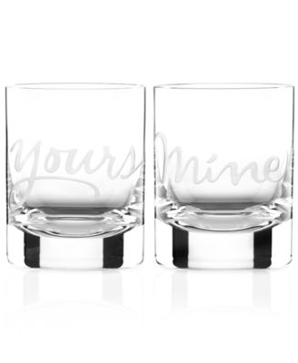 Mine and Yours Double Old Fashioned Glasses Set