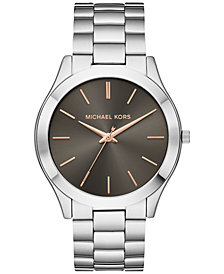 Michael Kors Unisex Slim Runway Stainless Steel Bracelet Watch 44mm