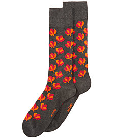 AlfaTech by Alfani Men's Maple-Leaf Socks, Created for Macy's