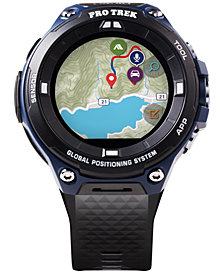 G-Shock Men's GPS Pro Trek Black Resin Strap Touchscreen Smart Watch 61.7mm