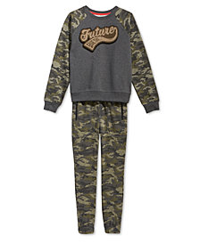 Epic Threads Big Boys Sweatshirt & Camo-Print Jogger Pants, Created for Macy's