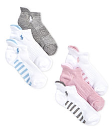 Polo Ralph Lauren Little & Big Girls 6-Pack Low-Cut Socks