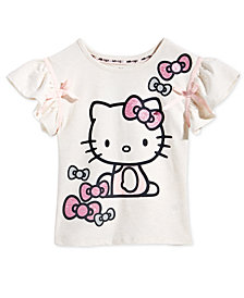 Hello Kitty Little Girls Ribbon-Trim T-Shirt