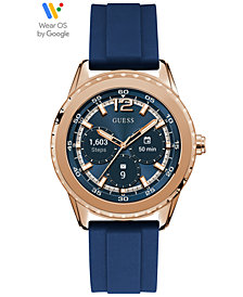 GUESS Connect Women's Blue Silicone Strap Touchscreen Smart Watch 40mm