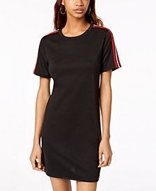 One Clothing Varsity Stripe T-Shirt Dress