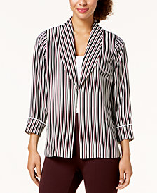 Alfani Striped Shawl-Collar Jacket, Created for Macy's