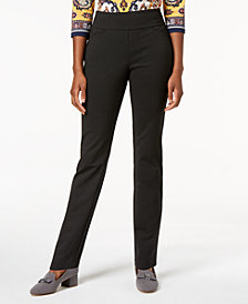 Charter Club Petite Pull-On Boot-Cut Pants, Created For Macy's