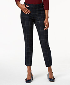 Charter Club Printed Ankle Pants, Created for Macy's